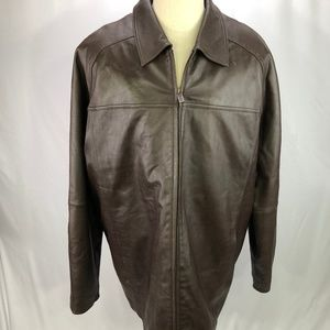 Wilson Men's Brown Leather Jacket Thinsulate 2XLT